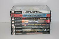 Lot of 8 Sony PlayStation 2 PS2 Video Games Tested Working