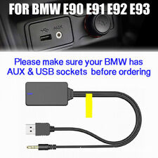 Car USB AUX Wireless Bluetooth Module Adapter Audio Music Cable For BMW E90-E93