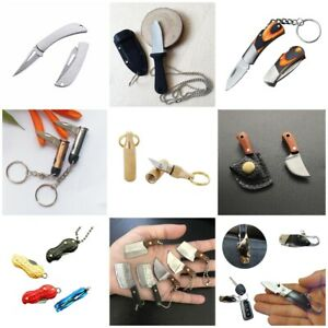 1 Mini Pocket Knife Keychain Portable Pendant Cleaver Blade Cutter Jewelry Tool