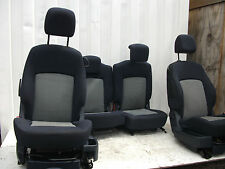 2006 PEUGEOT 1007 3DR SET OF INTERIOR CLOTH SEATS BLUE AND GREY WITH HEADRESTS
