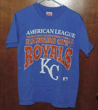 Vintage 1992 Team Hanes KANSAS CITY ROYALS AMERICAN LEAGUE Medium Blue T-shirt