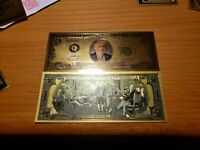 Donald Trump Gold $2 Bill With Amazing Color & Beautiful Detail On These Bills!!