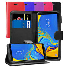 For Samsung Galaxy A7 2018 SM-A750FN/DS- Premium Leather Wallet Flip Case Cover