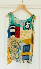 Bianco size 12 European 40 two piece multicoloured/multi patterned top and skirt