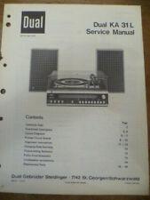 DUAL   KA 31L Hi-Fi System  Service Manual