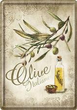 Nostalgic Art olive italiane olivenzweig huile d'Ol IVe cuisine publicité