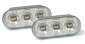 Side Indicators LED Seat Leon 1M 1P 11/1999-11/2012 Chrome Crystal