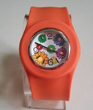 Girl's/Women's Silicone Rubber Slap Wrist Flower Watches For Gift