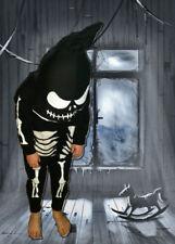 Halloween grim skeleton children's custom made onsie hooded spooky outfit zip