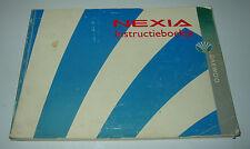 Instructieboekje Daewoo Nexia Bedienungsanleitung Betriebsanleitung Stand 1994