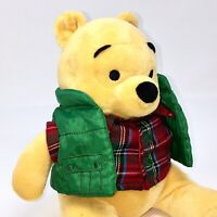 Winnie The Pooh Plush Disney Store Holiday Outdoors Christmas Gift Animal Toy