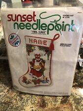 "Sunset Needlepoint 16"" Christmas Stocking kit # 6030 ""Mrs. Claus"" Open Pkg."