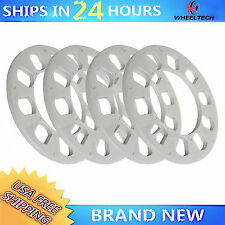 "4 pcs 1/4"" thickness fit 5X108 5X110 5X112 5X114.3 5X120 Universal Wheel Spacers"