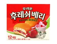 Korean Snack ORION FRESH BERRY 336g Soft Strawberry Cream Cake Steady Selling