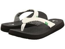 Women Sanuk Yoga Mat Flip Flop Sandal SWS2908 White 100% Original Brand New