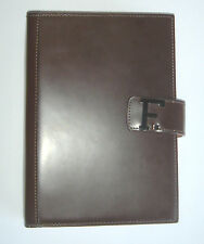 BROWN Leather LOGO FACONNABLE Personal ORGANIZER with FILOFAX Agenda 2015 ITALY