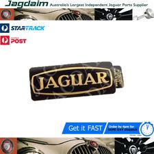 New Jaguar Rocker Cover Badge - Black / Gold Lettering C35732 X 2