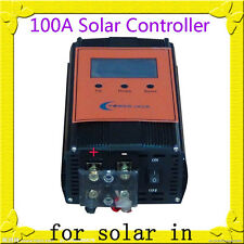 "2400W 100AMP Smart Solar Controller,12V / 24V DC,3.5""LCD For 18V-36V Solar Panel"