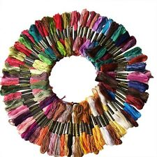 NEW 100Pcs Cotton Embroidery Thread Floss Sewing Skeins Craft Knitting Spiraea