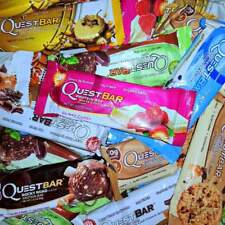 30 QUEST PROTEIN BARS MULTI FLAVOR ASSORTED MIX LOT 2 OZ EA 5 FLAVORS * 10/2018