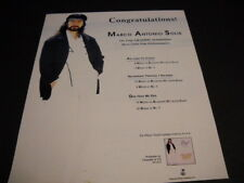 MARCO ANTONIO SOLIS Congrats On Your Grammy Nomination Promo Poster Ad mint cond