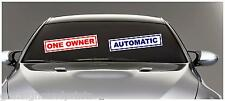 450X100MM CAR SALES STATIC CLING SICKER DECAL SELFCLING GARAGE REUSABLE