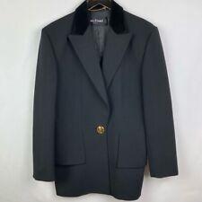Vintage Women's Black Louis Feraud Blazer   Size 6