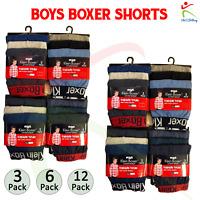 Boys Boxer Shorts Klein Designer Trunks Kids Boxers Cotton Mix Colours All Sizes