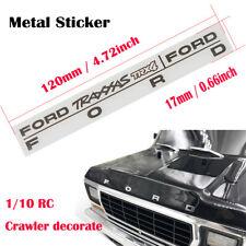 "Metal Badge Logo "" F O R D "" Front Sticker For TRAXXAS TRX-4 bronco Ford 1/10 RC"