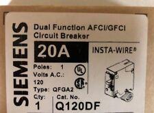 10 PACK - Siemens Q120DF Dual Function Circuit Breaker