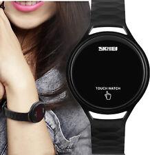 Women Silicone Rubber Touch Screen LED Digital Light Waterproof Sport Watch