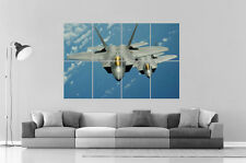 Aircraft F-22 Raptor Avion de chasse Wall Poster Grand format A0 Large Print