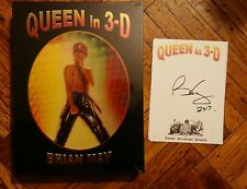 New Brian May Queen in 3D Book Signed Bookplate Stereoscopic 3-D UK Photography