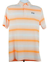 Under Armour Polo Shirt Men's Golf Nwt Size Small Heat Gear Striped Orange