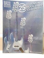 Guitar 25 Essential Rock Bass Classics Hal Leonard Bass Recorded Versions