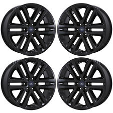 "22"" FORD EXPEDITION F150 TRUCK BLACK WHEELS RIMS FACTORY OEM SET 4 3993 EXCHANGE"