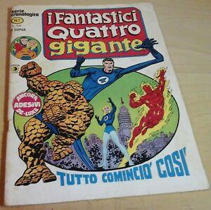 I FANTASTICI QUATTRO 4 GIGANTE cronologica corno N.1 TUTTO COMINCIO' COSI' 1978