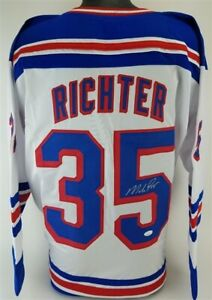 Mike Richter Signed Rangers Jersey (JSA COA)  1994 Stanley Cup Champ Goaltender