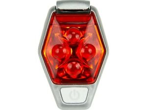 Nathan HyperBrite Strobe Clip on Weather Resistant Cycling / Running Light Red