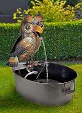 Metall-Brunnen Gufo con Pompa per Fontane Decorazione Giardino Ovale