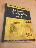 1942 Edition Canadian Service Data Book, Motor Magazine Vintage Booklet Auto