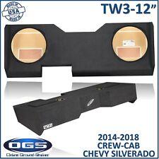 "2014-2018 Chevy Silverado Dual Sub box For Jl Audio 12"" Tw3 Sub woofer enclosure"