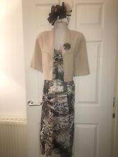 Sukhmani Of London  Mother Of Bride Cocktail Dress & Jacket & Fascinator 14