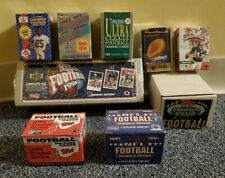 LOT OF 9 FOOTBALL CARD PACKS SETS 1989 TOPPS 1991 UPPER DECK FLEER ULTRA ROOKIE