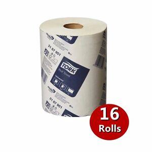 Tork Paper Hand Towels Towel Roll Bulk Industrial Kitchen White 90m x 16 Rolls