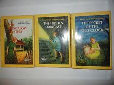 Three (3 Nancy Drew by Carolyn Keene HC/DJ Book Club Editions 1959 1960 NOT PIC