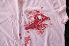 CANADA Ski T-Shirt*Women/Junior Size Medium*Pink/Red Maple Leaf*100% Cotton*NEW*