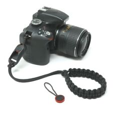 """Cordy Classic"" Black Paracord Camera Wrist Strap with Peak Design Anchor AL4"
