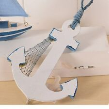 DECOR Anchor Shape Wall Hook Home Wood Door Hanger Nautical Conch Thermometer