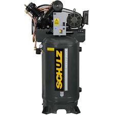 SCHULZ AIR COMPRESSOR - 7.5HP SINGLE PHASE - 80 GALLON TANK - 30CFM - 175 PSI